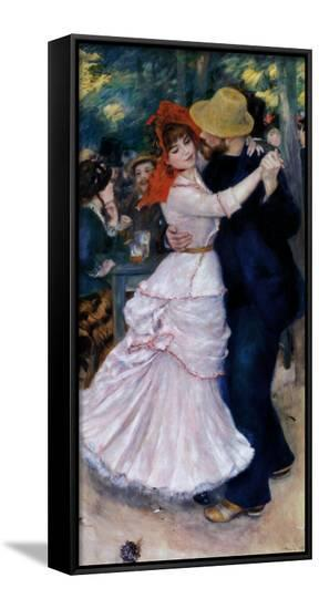 Dance at Bougival-Pierre-Auguste Renoir-Framed Canvas Print