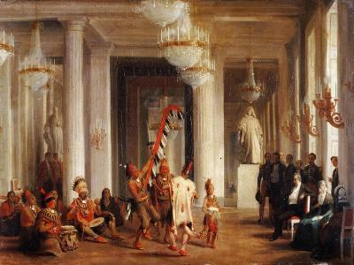 Dance by Iowa Indians in the Salon De La Paix at the Tuileries-Karl Girardet-Giclee Print