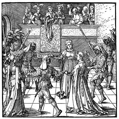 Dance by Torchlight, Augsburg, 1516-Albrecht Durer-Giclee Print