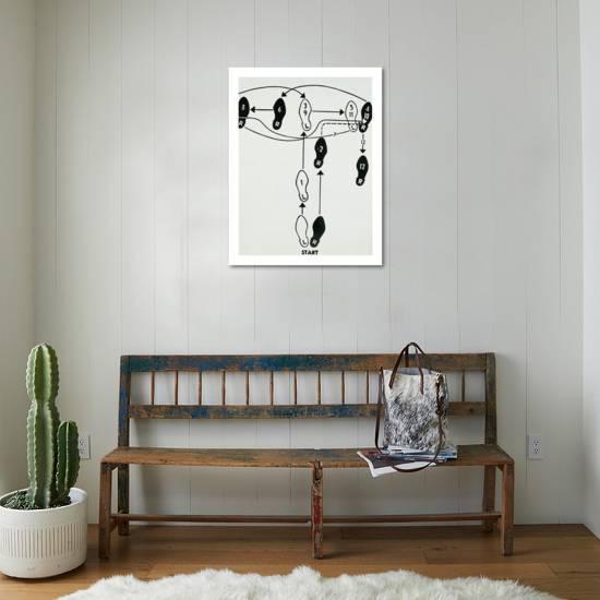 dance diagram, c 1962 (tango)-andy warhol-giclee print displayed