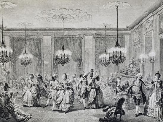 Dance in Ballroom, French Print--Giclee Print