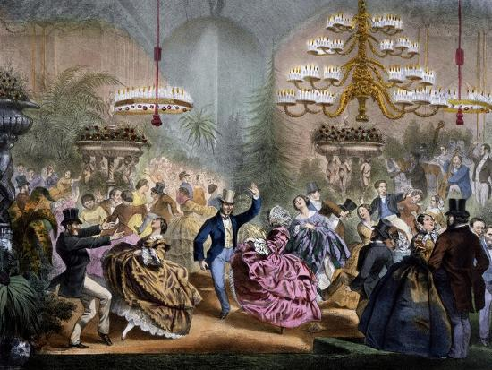 Dance in Winter Garden, 33 Champs-Elysees, Paris, Ca 1865, France--Giclee Print