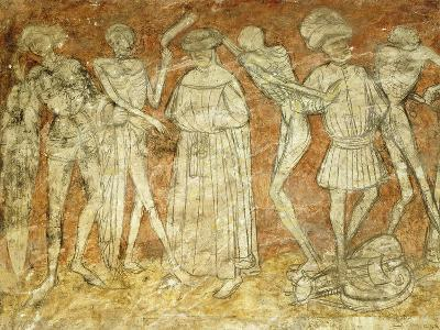 Dance of Death Fresco in at La Chaise-Dieu Abbey, France--Giclee Print