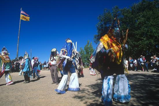 Dance of Los Matachines, El Rancho De Las Golondrinas, New Mexico--Photographic Print