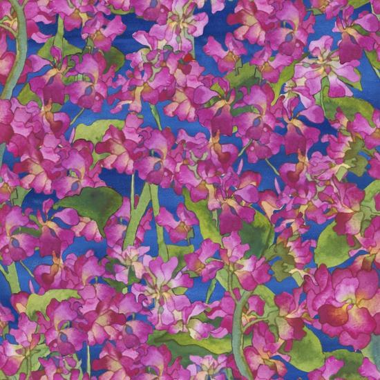 Dance Of Love- Pink Flowers Repeat-Carissa Luminess-Giclee Print