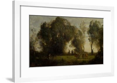 Dance of Nymphs-Jean-Baptiste-Camille Corot-Framed Giclee Print