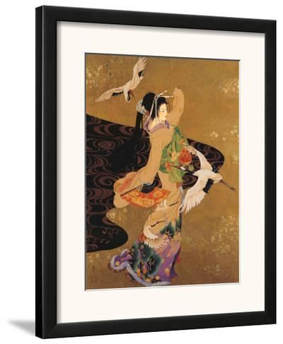 Dance of the Cranes-Haruyo Morita-Framed Art Print