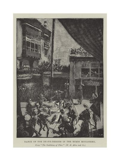 Dance of the Death-Demons in the Hemis Monastery--Giclee Print
