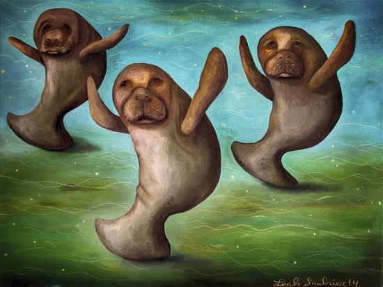 Dance of the Manatees-Leah Saulnier-Giclee Print