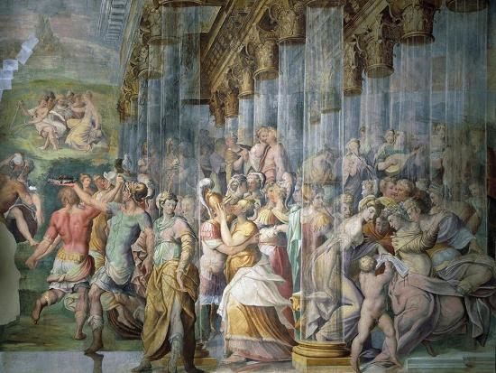 Dance Scene with Kiss, Circa 1570-Jacopo Cambi-Giclee Print