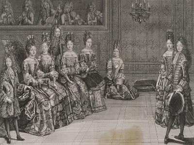 Dance: the Duke of Chartres in the Minuet with Miss-Antoine Trouvain-Giclee Print