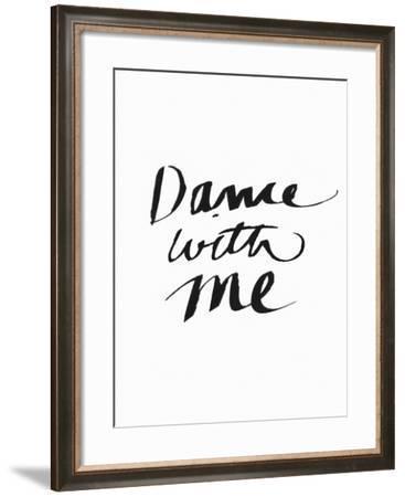 Dance with Me BW-Linda Woods-Framed Art Print