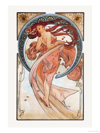 Dance-Alphonse Mucha-Art Print