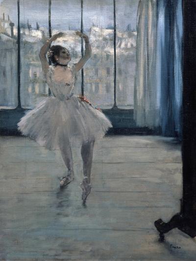 Dancer at the Photographer, 1875-Edgar Degas-Giclee Print