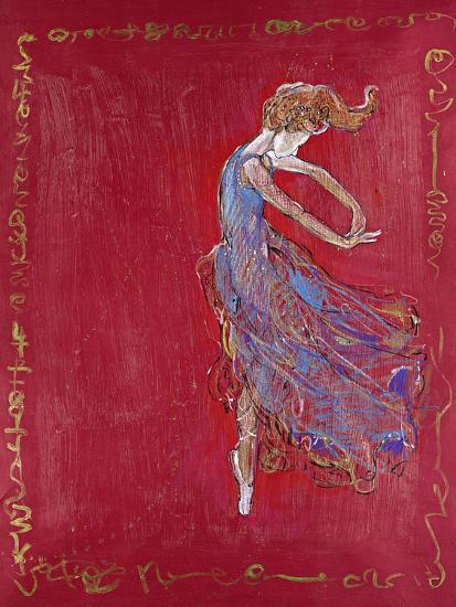Dancer in Blue IV-Marta Wiley-Premium Giclee Print