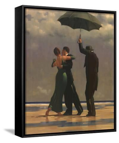 Dancer in Emerald-Jack Vettriano-Framed Canvas Print