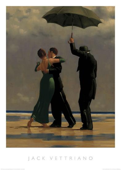 Dancer in Emerald-Jack Vettriano-Art Print