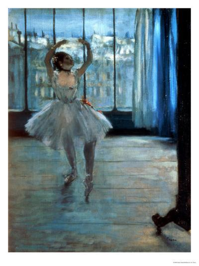 Dancer in Front of a Window (Dancer at the Photographer's Studio) circa 1874-77-Edgar Degas-Giclee Print