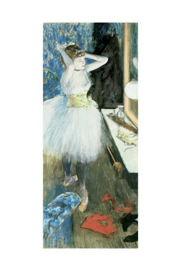 Dancer in Her Dressing Room, C.1879-Edgar Degas-Giclee Print