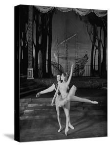 Dancer Moira Shearer Playing the Lead in the Cinderella Ballet and Dancing with Michael Somes