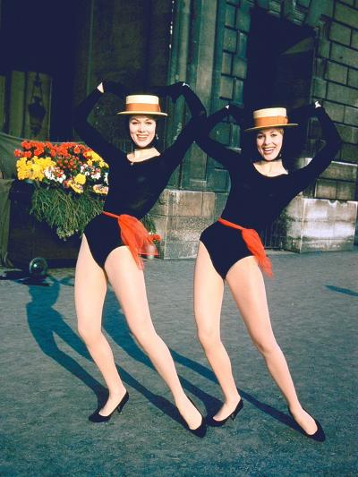 Dancer Twins Ellen and Alice Kessler of English Bluebell Troupe-Loomis Dean-Photographic Print