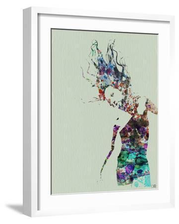 Dancer Watercolor 2-NaxArt-Framed Art Print