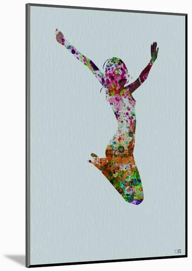 Dancer Watercolor 5-NaxArt-Mounted Print