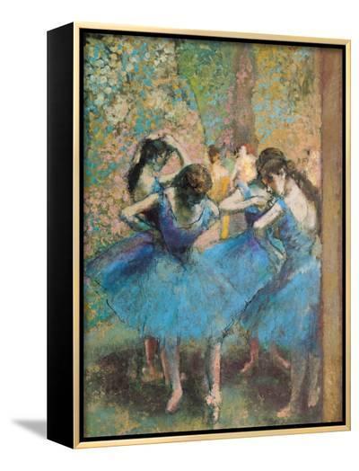 Dancers in Blue, c.1895-Edgar Degas-Framed Canvas Print