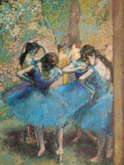 Dancers in Blue, c.1895-Edgar Degas-Premium Giclee Print