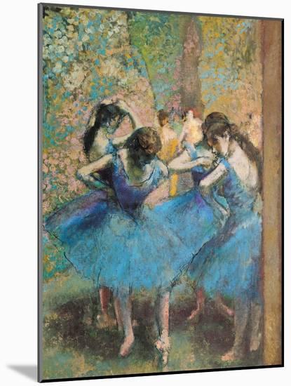 Dancers in Blue, c.1895-Edgar Degas-Mounted Giclee Print