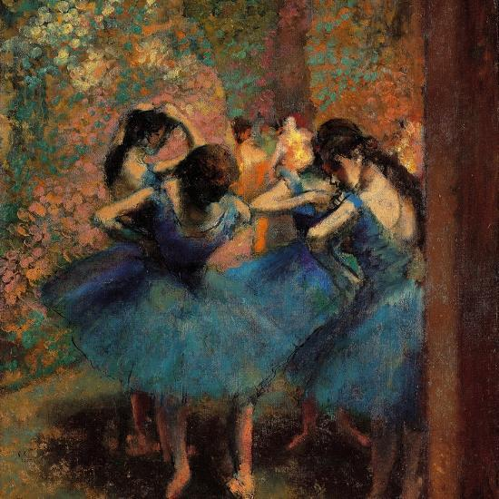 Dancers In Blue Danseuses Bleues Giclee Print Edgar Degas Art Com