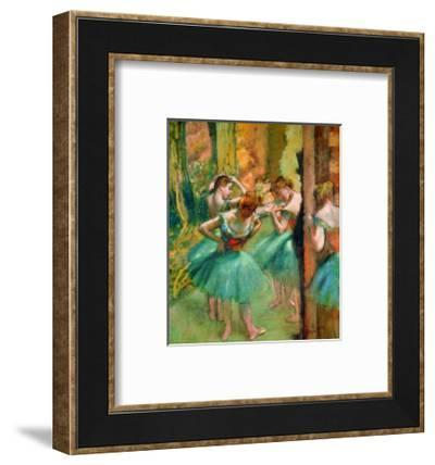 Dancers in Pink and Green-Edgar Degas-Framed Giclee Print