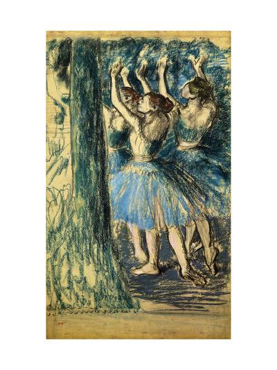 Dancers in the Scene-Edgar Degas-Giclee Print