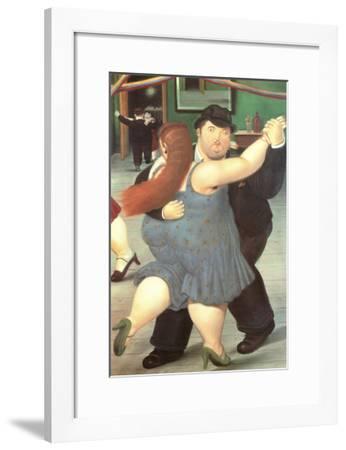 Dancers-Fernando Botero-Framed Art Print