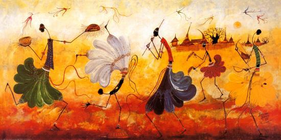 Dancers-Kalidou Kass?-Art Print