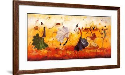 Dancers-Kalidou Kassé-Framed Art Print