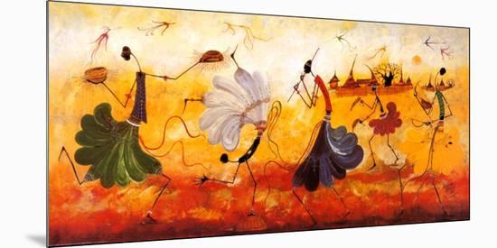 Dancers-Kalidou Kassé-Mounted Art Print