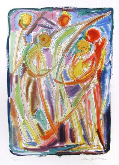Dancers-Chaim Goldberg-Collectable Print