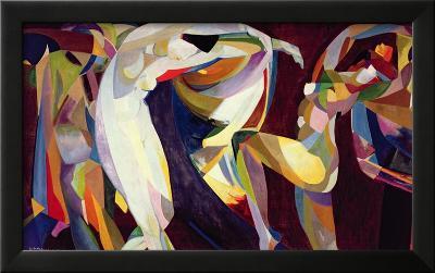 Dances, 1914/15-Arthur Bowen Davies-Framed Giclee Print