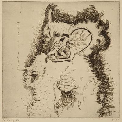 Dancing Bear, Printers Proof Prior to Aquatint-Thomas MacGregor-Giclee Print