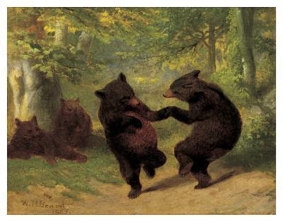 Dancing Bears-William Holbrook Beard-Art Print