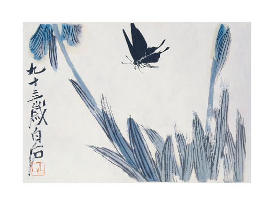 Dancing Butterfly-Baishi Qi-Giclee Print