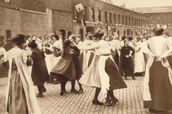 Dancing celebrates the end of war, 1918 (1935)-Unknown-Photographic Print