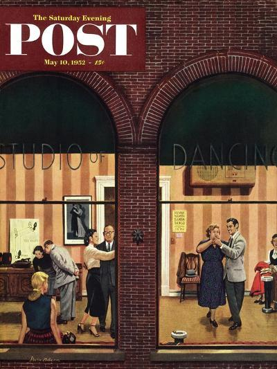 """""""Dancing Class"""" Saturday Evening Post Cover, May 10, 1952-Stevan Dohanos-Giclee Print"""