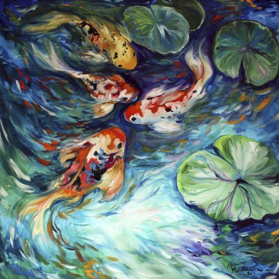 Dancing Colors Koi-Marcia Baldwin-Art Print