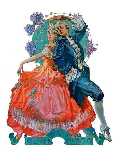 """Dancing Couple,""December 1, 1928-Elbert Mcgran Jackson-Giclee Print"