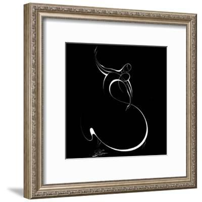 Dancing Couple II-Alijan Alijanpour-Framed Art Print
