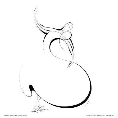 Dancing Couple II-Alijan Alijanpour-Art Print