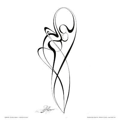 Dancing Couple III-Alijan Alijanpour-Art Print