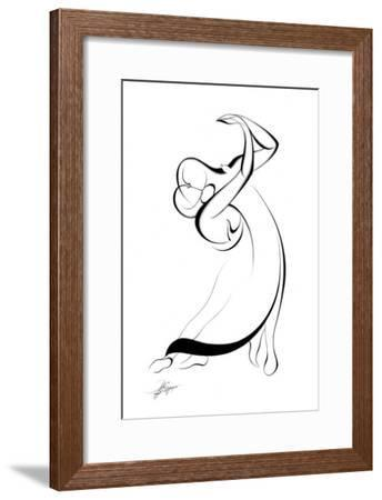 Dancing Couple IX-Alijan Alijanpour-Framed Art Print